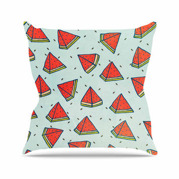 "Strawberringo ""Watermelon Pattern Summer Love"" Fruit Food Outdoor Throw Pillow"