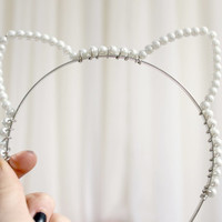Meow. Pearl Cat Ear Alice Hairband