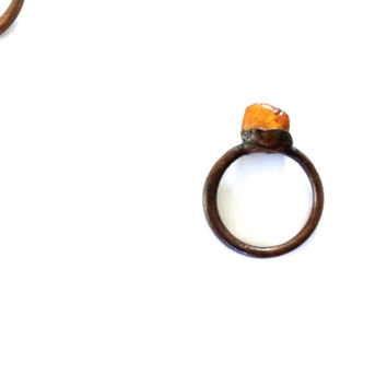 Raw amber ring | Untreated baltic amber jewelry | Natural amber stone jewelry | Raw stone ring | Rough amber jewelry | Raw mineral ring
