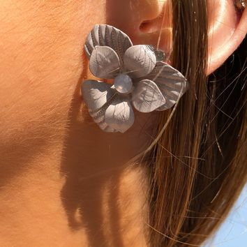 Freshly Picked Earrings: Grey