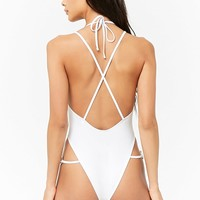 Plunging O-Ring One-Piece Swimsuit