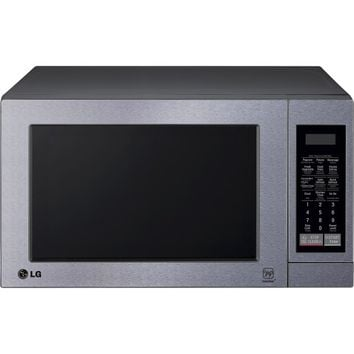 LG - 0.7 Cu. Ft. Compact Microwave - Stainless-Steel