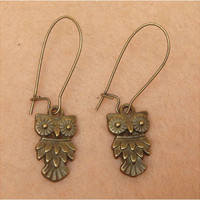 Owl Earring by turquoisecity on Etsy