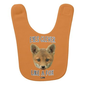 Eyes Clever Baby Design by Kat Worth Baby Bib