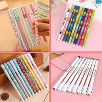 10pcs/lot New Cute Cartoon Colorful Gel Pen Set Kawaii Korean Stationery Creative Gift School Supplies 04035