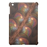 Colorful Fluorescent Abstract Modern Brown Fractal iPad Mini Case