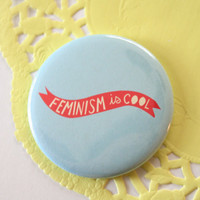 Feminism is Cool Pocket Mirror