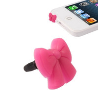 Bowknot Style Plastic Anti-dust Plug for iPhone 5/ iPhone 4 & 4S/ iPad/ iPod/ Other Mobile Phone