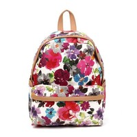 ZLYC Vintage Floral Printed Backpack