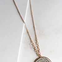 Medallion Necklace in Grey