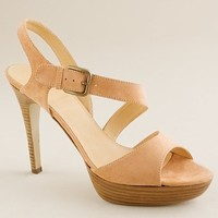 Women's shoes - pumps & heels - Isla suede platform heels - J.Crew