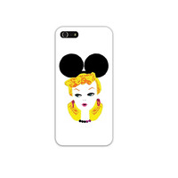 Vintage Retro Barbie Mickey Mouse Ears Cell Phone Case Cover Apple iPhone 4 4S 5 5S Samsung Galaxy S3 S4 Disney Disneyland Doll