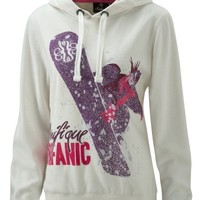 Surfanic Womens Board Print Hoody Purple