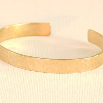 Hammered Bronze Medium Width Cuff Bracelet for Minimalism that Says Everything