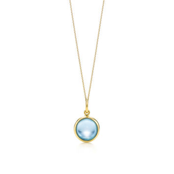Tiffany & Co. - Paloma Picasso®:blue topaz dot charm and chain