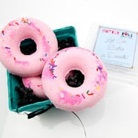 Let 'Em Bathe in Donuts Pink Sprinkle Donut Bath Bomb Set!