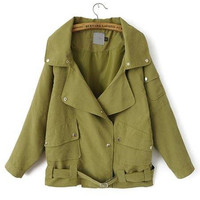 'The Harper' Army Green Long Sleeve Jacket