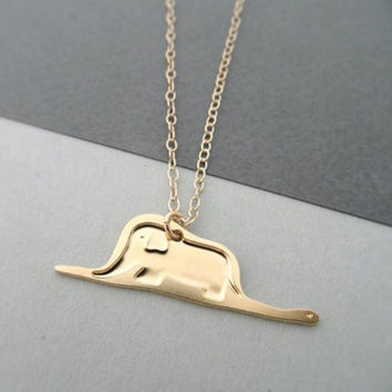 Free shipping 1pcs Little Prince necklace jewelry for women for child Gold and silver two colors necklaces & pendants