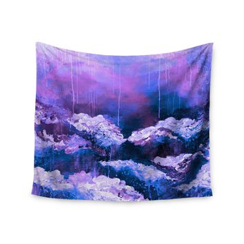 "Ebi Emporium ""It's A Rose Colored Life 7"" Purple Blue Painting Wall Tapestry"