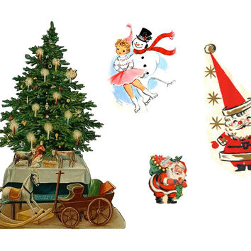 Vintage Style Christmas Tattoos - Pack 2