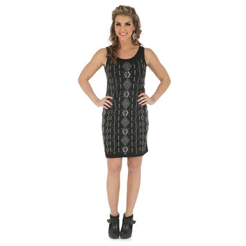 Wrangler Rock 47 Sleeveless Dress with Allover Studs Black