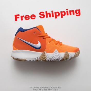 [ Free  Shipping Nike Kyrie 4  Wheaties Basketball Sneaker