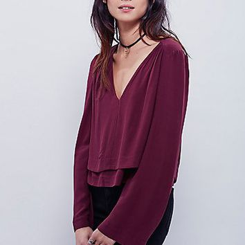 Free People Womens Moondance Deep V Top