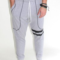 Varsity Stripe Sweatpants- Grey