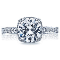 5.40ct G-VS1 18kt White Gold Halo Round Diamond Engagement Ring Tacori JEWELFIRME BLUE
