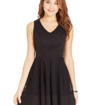 Emerald Sundae Juniors' Pleated A-Line Dress | macys.com