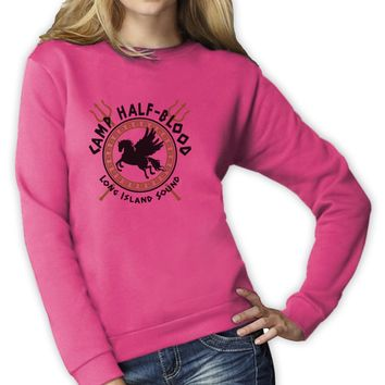 Camp Half Blood Gods Women Sweatshirt Pegasus Long Island Percy Jackson Sci-Fi