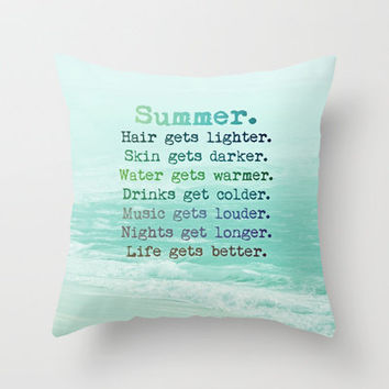 SUMMER Throw Pillow by M✿nika  Strigel	 | Society6