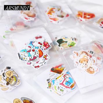 Kawaii Cartoon Hello Kitty Paper Stickers DIY  Diary Stickers For Planner Album Cute Stickers Scrapbooking Stationery
