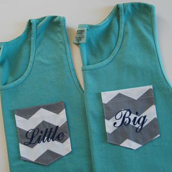 Sorority Monogrammed Pocket TANK