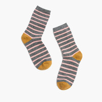Striped Textural Trouser Socks
