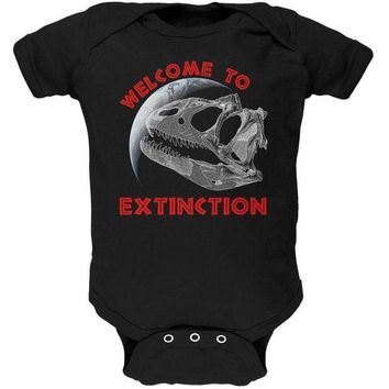 LMFCY8 Earth Day Dino Dinosaur Fossil Welcome To Extinction Soft Baby One Piece