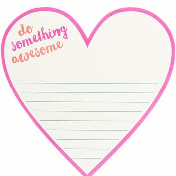 Do Something Awesome Heart Diecut Notepad