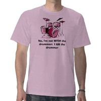 woman drummer tshirt from Zazzle.com