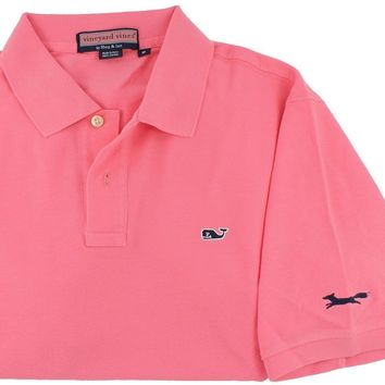 Classic Polo in Bermuda Pink by Vineyard Vines, Featuring Longshanks the Fox