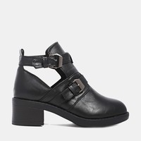 Truffle Cut Out Buckle Boots