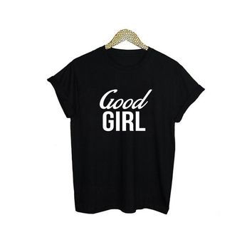 Good Girl Slogan T-Shirts - Women's Top Tee