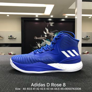 Adidas D Rose 8 Men Black White Boost Basketball Shoes