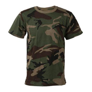 PEAPFS2 2018 New outdoor Hunting Camouflage Short T-shirt Men Breathable Army Tactical Combat T Shirt Military Dry Camo  Camp Tees
