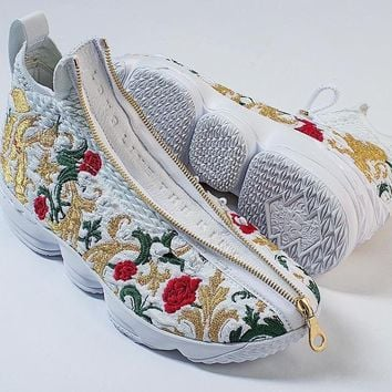 "Nike  LeBron James 15 XV  "" Flowers""Basketball Shoe"