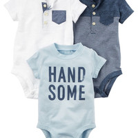 3-Pack Short-Sleeve Original Bodysuits