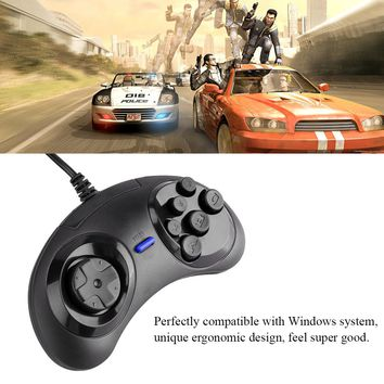 6 Buttons USB Gaming Mega Drive Controllers