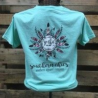 Southern Chics Comfort Colors So Chic Feathers Girlie Bright T Shirt