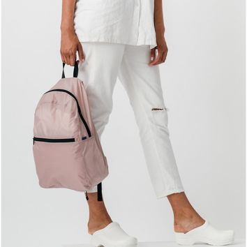 Mauve Ripstop Compact Backpack
