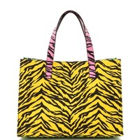 Moschino Cheap and Chic Print Canvas Tote