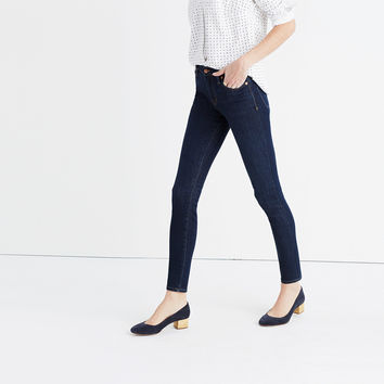 "9"" High-Rise Skinny Jeans in Larkspur Wash"
